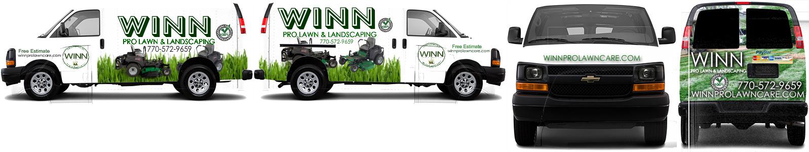 Cargo van wrap custom design 22506 by winn pro lawn for Garden maintenance van