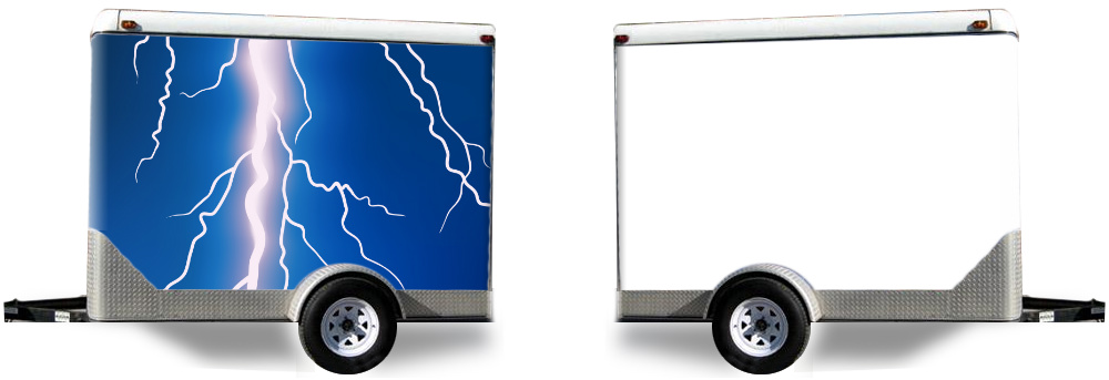 lightning bolt trailer wrap designed by custom car wraps design your own trailer wrap. Black Bedroom Furniture Sets. Home Design Ideas